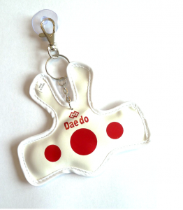 "Daedo Mini Body Protector Key Ring ""Taekwondo"" DE1819 - rot"