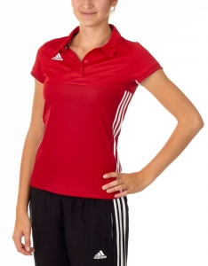 adidas T16 Clima Cool Polo Damen power rot/scarlet rot AJ5477