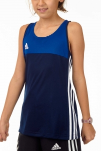 adidas T16 Clima Cool Sleeveless Tee Mädchen navy blau/royal blau AJ5242
