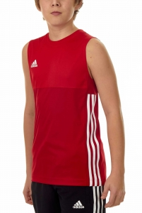 adidas T16 Clima Cool Sleeveless Tee Jungen power rot/scarlet rot AJ5234
