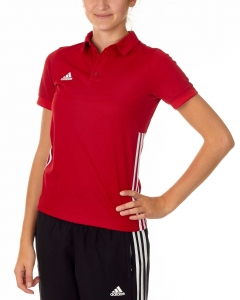 adidas T16 Team Team Polo Damen power rot /weiß AJ5275