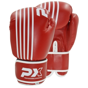 PX Boxhandschuhe SPARRING, PU rot-weiß