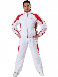 KWON Trainingsanzug Performance Micro weiß-rot-grau