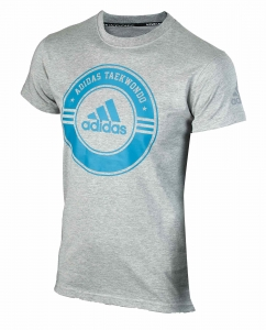 "adidas Taekwondo Community Line Shirt ""Circle"" grey/blue, adicsts01T"