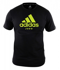 "adidas Community line T-Shirt Judo ""Performance"" black/shock yellow, ADICTJ"