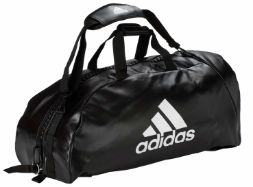 "adidas 2in1 Bag ""martial arts"" black/white PU, adiACC051"