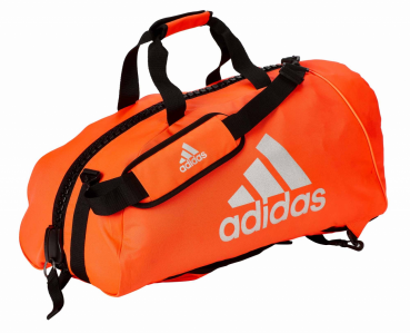"adidas 2in1 Bag ""martial arts"" red/silver Nylon, adiACC052"