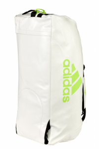 "adidas 2in1 Bag ""martial arts"" white/lime PU, adiACC051"