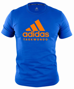 adidas Community line T-Shirt Taekwondo Performance blue/orange, ADICTTKD