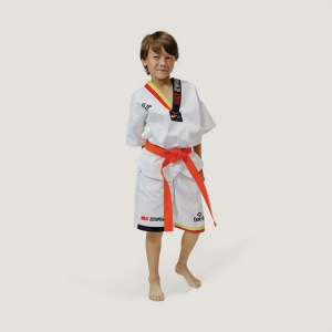 TA1002 Daedo NEW KID SUMMER DOBOK (YELLOW/RED)