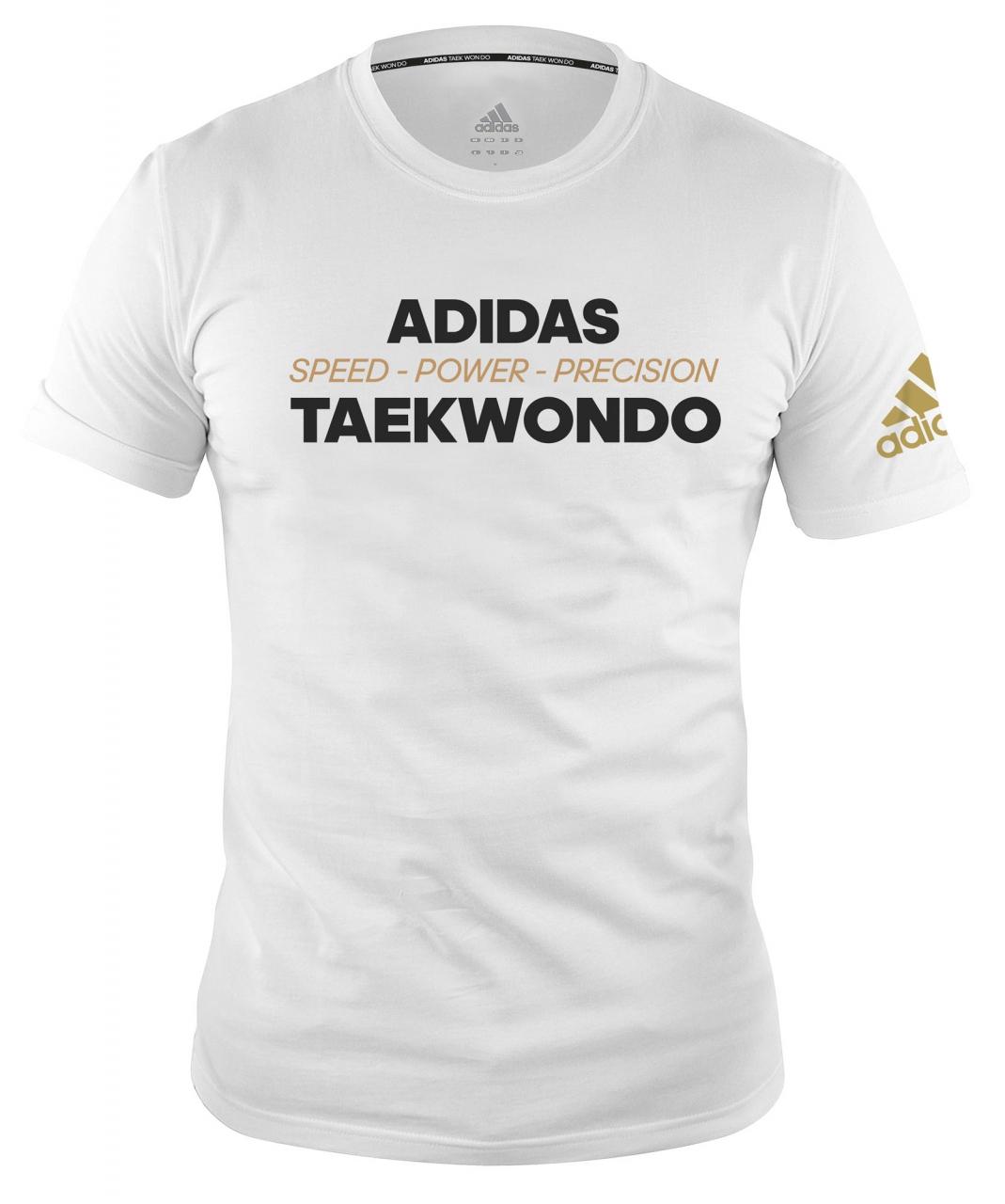 adidas Community line T Shirt Taekwondo Power white, adiTCL02