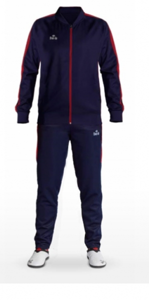Daedo Slim Fit Tracksuit Blue/Red CH1423
